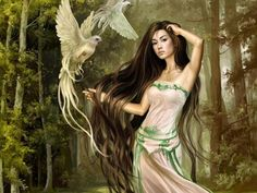 CALLIOPE (Kalliope) - The leader of the nine Muses, and goddess of epic poetry. She also bestowed the gift of eloquence upon kings and princes.
