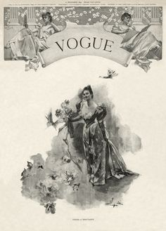 The cover of the first issue of Vogue magazine, dated December 17, 1892