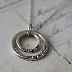 adorable mummy & baby necklace