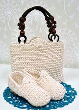 Virkattu laukku, Tuulia design -tarvikepaketti