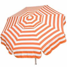 Relax and enjoy the sun in style with the Round Italian Patio Umbrella. This stylish, high-quality bistro umbrella is perfect for the beach, patio, or a camping outing. Durable in design, it will provide shade and comfort through the season. Outdoor Umbrella, Beach Umbrella, Patio Umbrellas, Garden Parasols, Sun Umbrella, Italian Patio, Italian Bistro, Italian Beach, White Bar