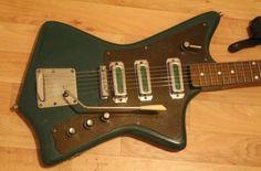 Rare Armenian electric guitar KRUNK ANI 1971 USSR St. Vincent style music man