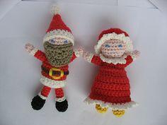 Ravelry: virkkaaja's Santa Claus & Mrs. Claus Ravelry, Snowman, Santa, Christmas Ornaments, Holiday Decor, Projects, Log Projects, Blue Prints, Christmas Jewelry