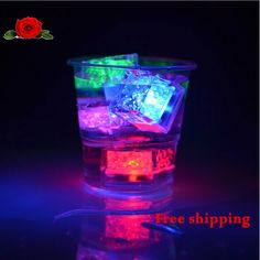 Wholesale High quality wedding celebration LED flash Ice Cubes party Sparkling Ice Without Switch lembrancinhas para bebe - maybe for specialty drinks Ice Cube Lights, Xmas Party, Sparkling Ice, Celebrity Weddings, Flashlight, Shot Glass, Party Supplies, Handmade Items, Led