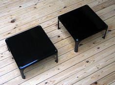 2 side tables Demetrio 45 Vico Magistretti Artemide | 20th century Modern online gallery. Featuring a large and varied selection of vintage design and architect furniture. | Shipping worldwide | http://www.furniture-love.com/vintage/furniture/