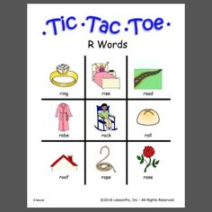 Use or customize your own templates at LessonPix. Tic Tac Toe Board, R Words, Speech Therapy, Vocabulary, Templates, Speech Pathology, Models, Speech Language Therapy, Template