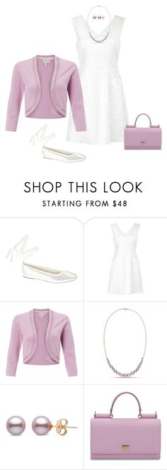 """""""Lavender & White for Spring"""" by alara-cary ❤ liked on Polyvore featuring Touch Ups, Mela Loves London, Monsoon and Dolce&Gabbana"""