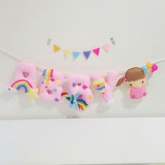 My little pony theme name banner  Material :Felt