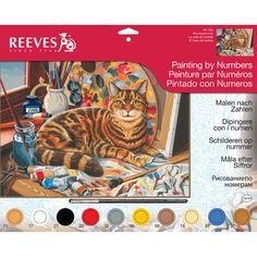 REEVES-Paint By Number Kit.  Painting by numbers is the perfect introduction for young or experienced artists.  Board is pre-printed so all you have to do is simply follow the instructions and start painting!