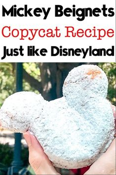 A fun recipe to make a favorite Disney treat at home! See how easy it is to make Mickey Beignets and a little bit of Disney magic! Disney Desserts, Disney Snacks, Disney Recipes, Disney Dishes, Disney Themed Food, Disney Inspired Food, Beignets, Beignet Recipe, Disneyland Food