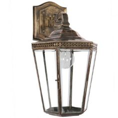 Chelsea Overhead Arm Outdoor Wall Lantern Light Antique Brass: Part of the 'Chelsea' family, this traditional wall bracket is constructed from solid c Led Outdoor Wall Lights, Overhead Lighting, Outdoor Wall Lantern, Hanging Lanterns, Outdoor Walls, Hanging Lights, Victorian Wall Lighting, Antique Lighting, Traditional Wall Lighting