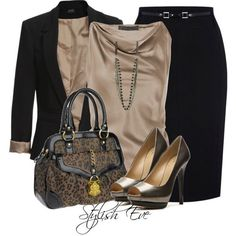 Stylish Eve Outfits 2013: Formal Wear with Pencil Skirts