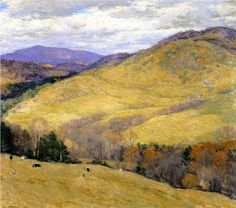 Vermont Hills, November - Willard Metcalf