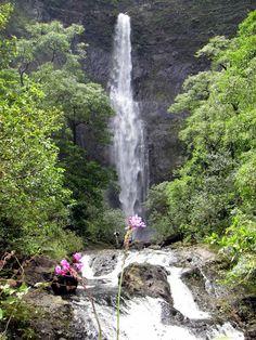 Hanakapi'ai Falls Hike in Kauai, HI. Difficult but worth it!