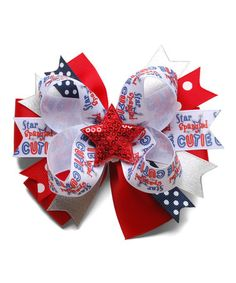 Another great find on #zulily! Red & Blue Star Spangled Cutie Layered Hair Bow #zulilyfinds