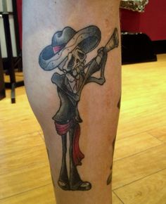 Healed mariachi skelly by Becky Adelaide tattoo