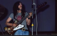 Lemmy with Hawkwind in 1974