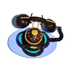 Casca de coco Telefone Modelo 1 Super Glue, Coconut Shell, Shells, 1, Handmade, Telephone, Craft, Role Models, Objects