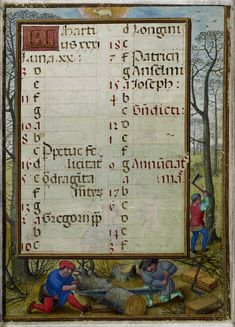 March 2 - Hennessy Book of Hours - miniaturist: Simon Benning - Flanders, 1530-1540 - Bruxelles, Bibliothèque royale Albert Ier, ms. II 158
