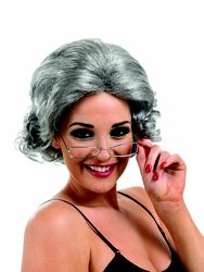 #party #fancydress #stag #hen Granny Wig With Glasses FUN3486