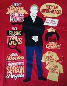 Sherlock Holmes is a consulting detective. He is assisted by Dr. Watson, a former army doctor who has returned from Afghanistan. Sherlock and Watson live at 221 Baker Street in a house owned by Mrs. Sherlock Poster, Sherlock Fandom, Sherlock John, Sherlock Bbc Quotes, Bbc Sherlock Holmes, Sherlock Series, Watson Sherlock, Jim Moriarty, Sherlock Shirt