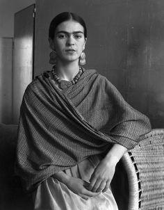 Frida Kahlo,her earrings, necklace, shawl......