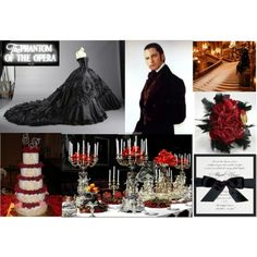 Phantom of the Opera Inspiration Board via A Perfect Celebration
