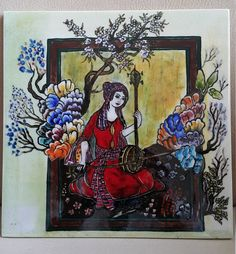 ottoman miniature decoration tile glazed gift by TILESMARKET