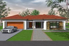 Four Bedroom House Plans, 3 Bedroom House, Single Storey House Plans, House Plans South Africa, Bedroom Decorating Tips, House Plans With Photos, Model House Plan, My Dream Home, Dream Homes