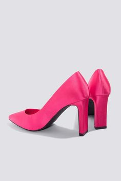 Na Kd Shoes Pointed Rectangle hot pink Heel Pumps Hot Pink Heels, Pink Pumps, Pumps Heels, Pink Outfits, Fashion Outfits, Kd Shoes, Heeled Mules, Pink Clothes, Purple