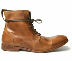 These killer Hudson Shoes Swathmore Tan Boots will match perfectly with the Oozoo Tan watch and a fabulous tan belt. What he chooses to wear with them is down to him. These boots know no season and look even better as they age!!!