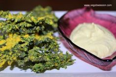 Kale chips and ranch dip