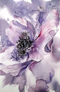 Ode an die Anemone Anemone / Aquarell The post Ode an die Anemone appeared first on Blumen ideen. Alcohol Ink Painting, Alcohol Ink Art, Arte Floral, Watercolor Flowers, Watercolor Paintings, Watercolours, Painting Flowers, Art Aquarelle, Botanical Art