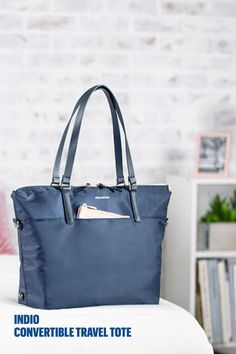 Designed for travel and stylish enough for everyday, use this versatile bag as a tote or backpack with convertible straps! #travelessentials #travelmore #ricardotravel Crossbody Tote, Tote Backpack, Tote Purse, Travel Handbags, Travel Purse, Carry On Tote, Tote Organization, Travel Wardrobe, Other Accessories