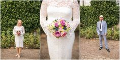 Beautiful pregnancy vintage wedding dress & pastell bouquet