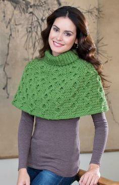 Aran Waves Poncho Crochet Pattern'   Skill Level: Intermediate