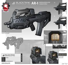 Blacktank AR-1, Kris Thaler on ArtStation at https://www.artstation.com/artwork/blacktank-ar-1