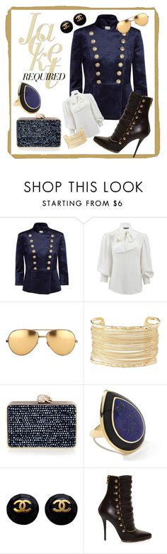 """""""Mighty Militaires"""" by dtmsfashion ❤ liked on Polyvore featuring Pierre Balmain, Alexander McQueen, Linda Farrow, Charlotte Russe, Wilbur & Gussie, Ippolita, Balmain, navy and military"""