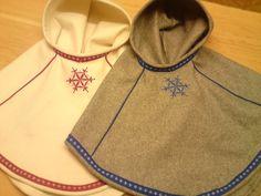LIT design - Luhkka til barn Cloak, Handicraft, Lighting Design, Scandinavian, Shawl, Diy Crafts, Sewing, Folklore, My Style