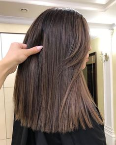 brunette hair color ideas in 2019 - page + brünette Haarfarbe Ideen im Jahr 2019 – Seite 30 brunette hair color ideas in 2019 – page 30 – – color - Brown Hair Balayage, Hair Highlights, Long Bob Balayage, Lob Hairstyle, Hairstyles Haircuts, Hairstyle Ideas, Long Face Hairstyles, Brunette Hairstyles, Celebrity Hairstyles