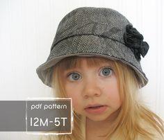 Hampton chapeau patron et tutoriel 12M-5 t facile a coudre pattern PDF