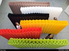 Cloison, mur papier | pipe and drop
