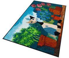 loper, rosina wachtmeister, »secret garden«, wasbaar, met antislip-coating multicolor