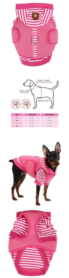 Harnesses and Leashes 149050: Authentic Puppia Twosome Harness And Hooded Shirt All-In-1 Pink Small, New -> BUY IT NOW ONLY: $51.45 on eBay!