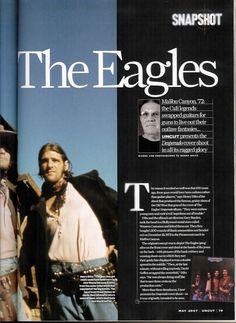 Eagles' Desperado shoot by Henry Diltz featuring Glenn Frey, Don Henley, Randy Meisner, Bernie Leadon, Jackson Browne, & JD Souther.  uncut magazine