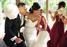We LOVE when couples are having fun and dancing during the photoshoot. #wedding #love #photography #Toronto