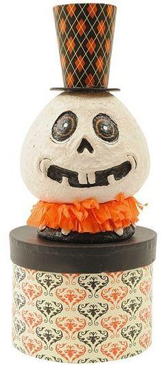 CREATIVE CO-OP Halloween Skull Decorative Box