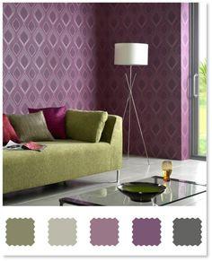 Wonderful Found It At AllModern   Vogue Plum Wallpaper By Superfresco