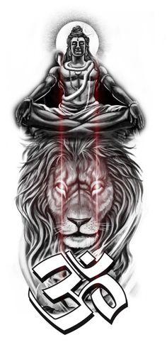 Desing by rohit Ink machine tattoo studio shujalpur m.p Tattoo Lettering Design, Buddha Tattoo Design, Shiva Tattoo Design, Bholenath Tattoo, God Tattoos, Mahadev Tattoo, Ganesha Drawing, Mens Lion Tattoo, New Tattoo Designs