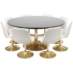 Tulip Table and Chair Dining Set in the style of Eero Saarinen for Knoll